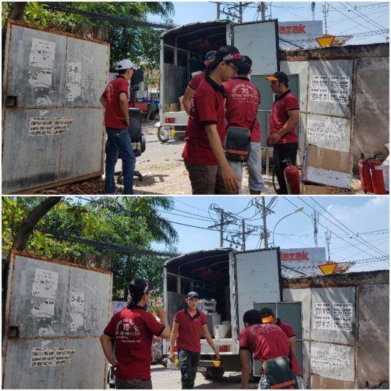 Hình ảnh nhân viên Toàn Cầu triển khai dịch vụ chuyển nhà
