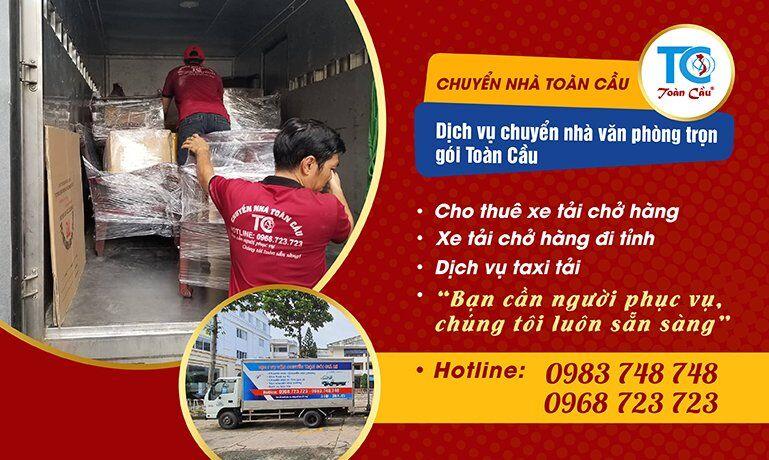 dịch vụ xe tải chở hàng tại Toàn Cầu