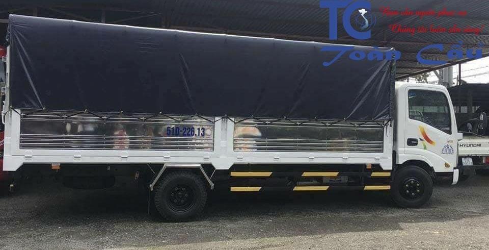 Xe tải chở hàng 2 tấn thùng dài 6m
